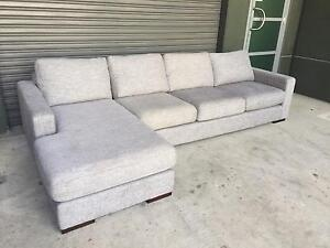 Freedom essentials sofa 3 seat plus chaise lounge Strathfield Strathfield Area Preview