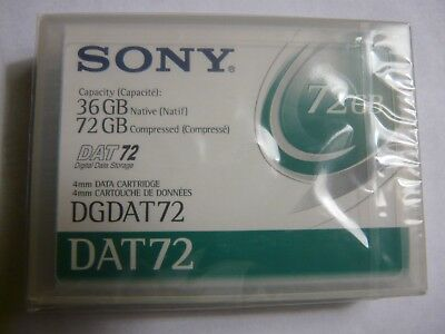 ONE Sony  DAT72 Data Tape Cartridge 36/72GB  NEW factory sealed P/N DGDAT72  NEW