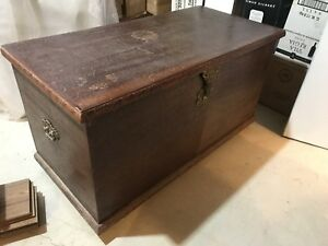 Large solid wood cedar chest with lock and key