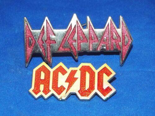 Lot of 2 AC/DC & Def Leppard Pins