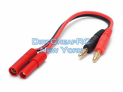 Battery Charger Charging Leads: REDCAT RACING HXT 4.0 Male to 4mm Bullet Banana