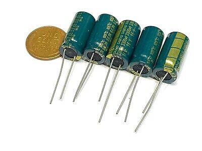 5 Pieces 16v 3300uf 105c 10 X 24 Mm Low Esr Sanyo Capacitors New B27