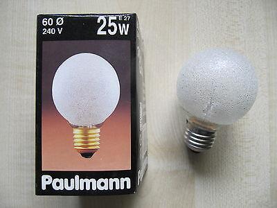 25w Klar Globe (RARITÄT Paulmann Globe E27 25W G60 240V EISKRISTALL Globelampe Eiskristall KLAR)