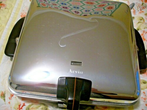 Vintage ARVIN LECTRIC COOK WAFFLE IRON and GRILL, Model 3550, Made in USA