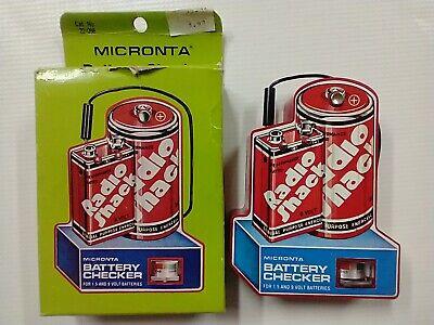 Vintage Radio Shack Micronta 22-098 Battery Checker Tester w/Box works Great!