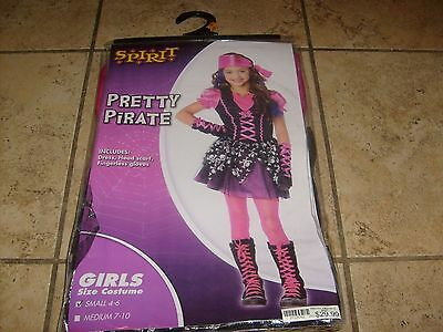 MONSTER HIGH PIRATE  GIRL HALLOWEEN COSTUME DRESS COSPLAY SIZE SMALL 4-6 NEW - Monster High Cosplay Costumes