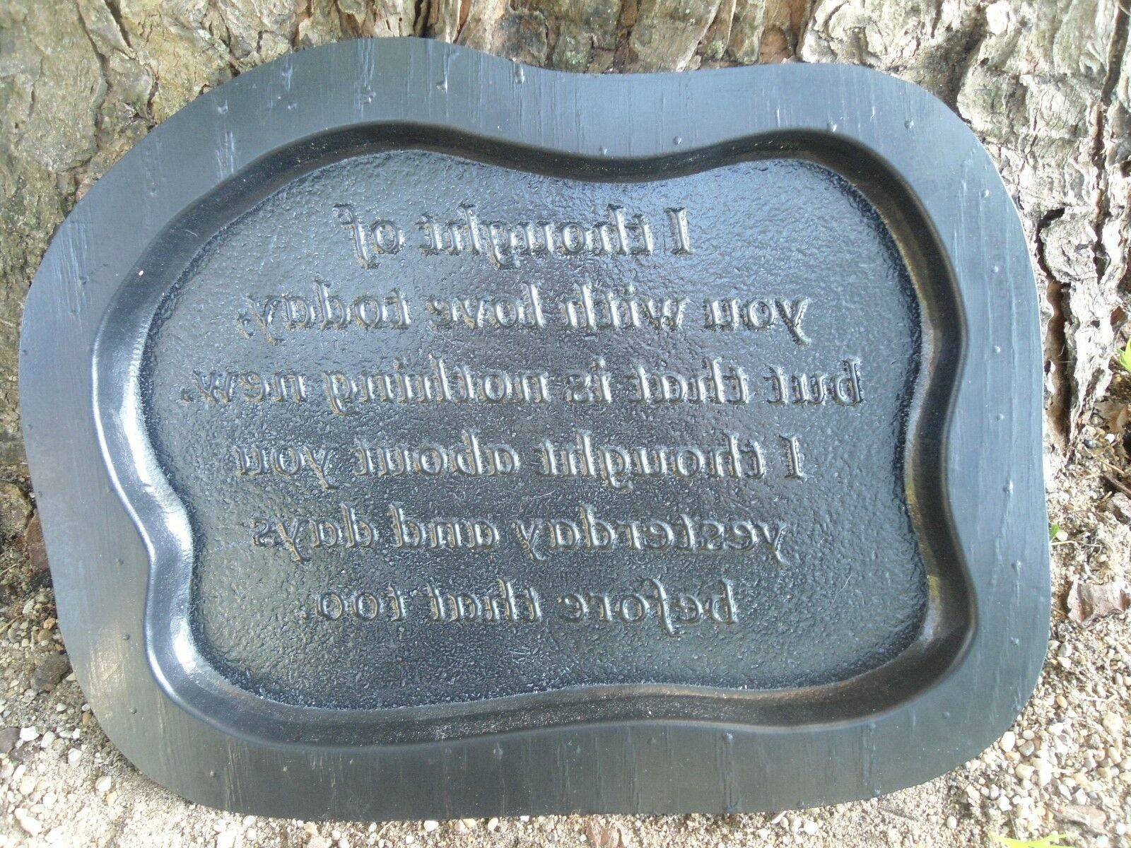 plastic memorial plaque 2 mold garden ornament stepping. Black Bedroom Furniture Sets. Home Design Ideas