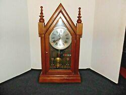 VTG. Alaron Steeple/Mantle Clock Pendulum Clock Model C-26  31 Day Chimes