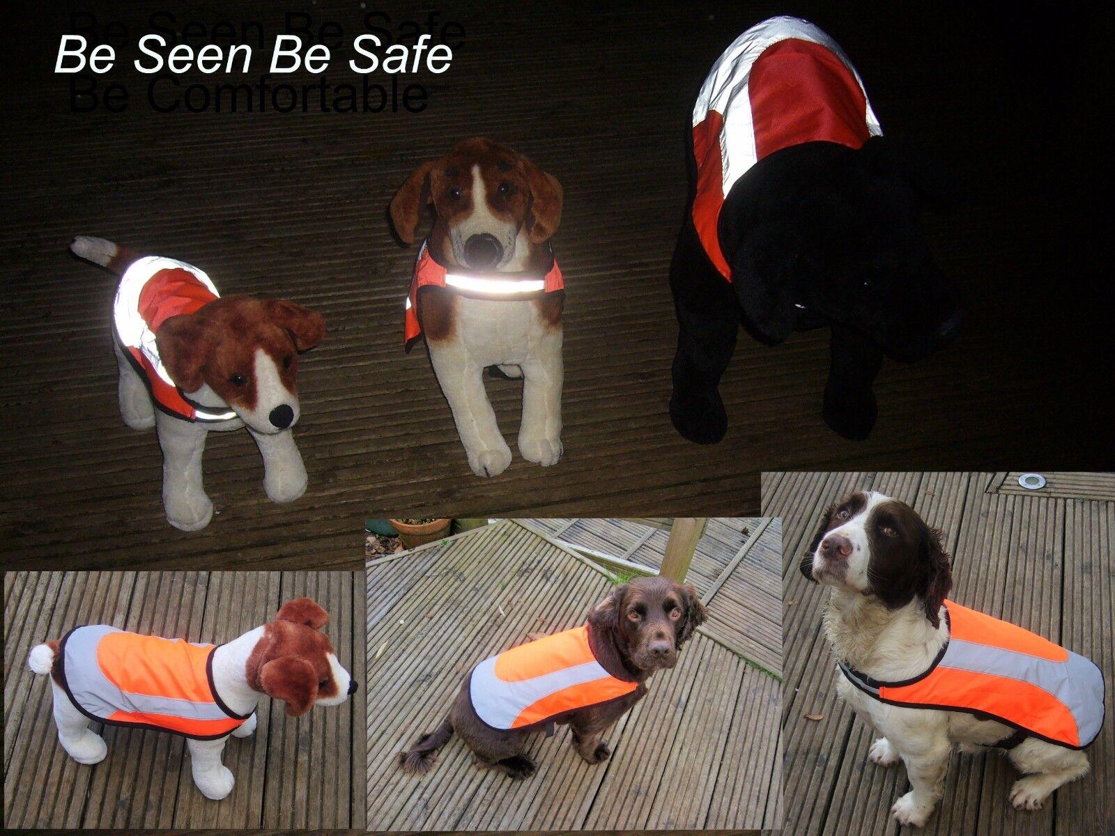 Hi Vis Reflective Lined Waterproof Rosewood Hi Viz Safety Dog Vest Coat Jacket