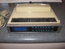 Vintage 1980's American Bell Touch-A-Matic 315 Phone-Alarm Clock-AM/FM Radio