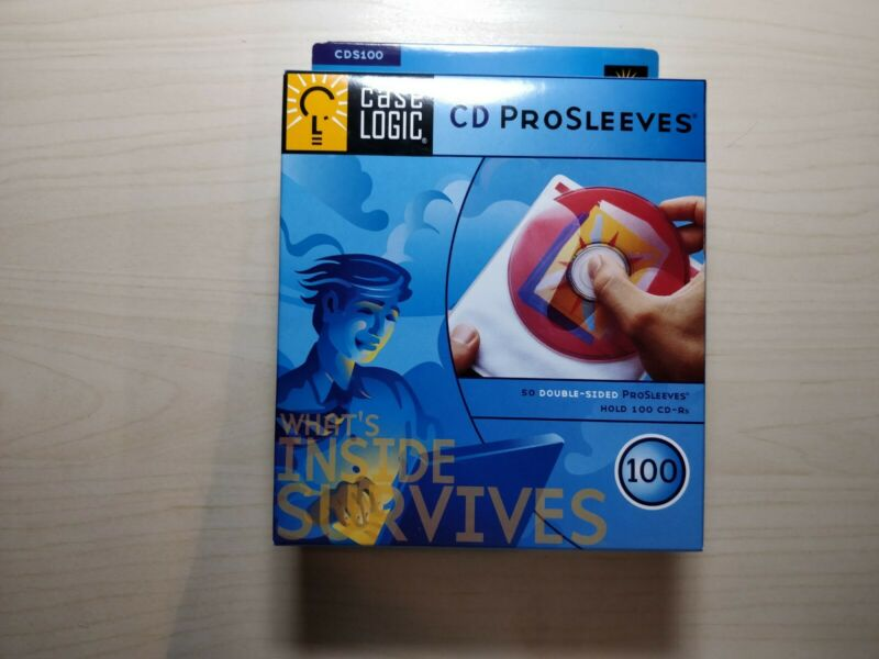 Case Logic CD ProSleeves Double Sided CD Sleeve 100 CD Capacity