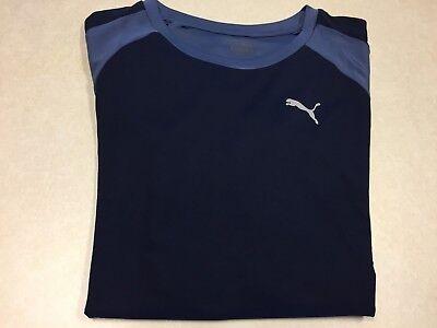 1163 NWT Boys Puma Peacoat Blue Short Sleeve Shirt Sz L MSRP 24.00 (Puma-peacoat)