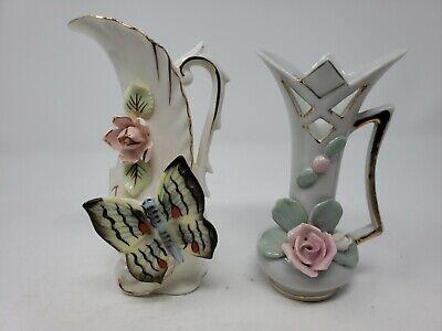 Bud Vase Pink Lettering Mother Enesco Imports Ribbon Gold Trim 1970/'s Japan Porcelain White Roses Flowers Mothers Day Vase Vase