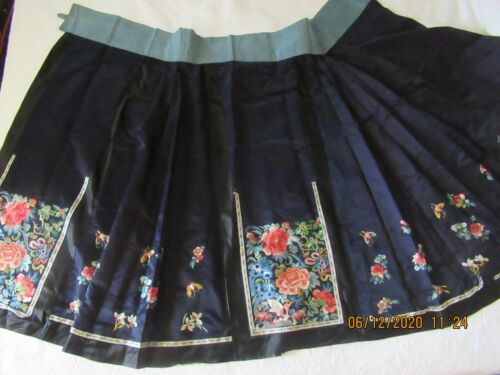 ANTIQUE CHINESE EMBROIDERY SILK SKIRT