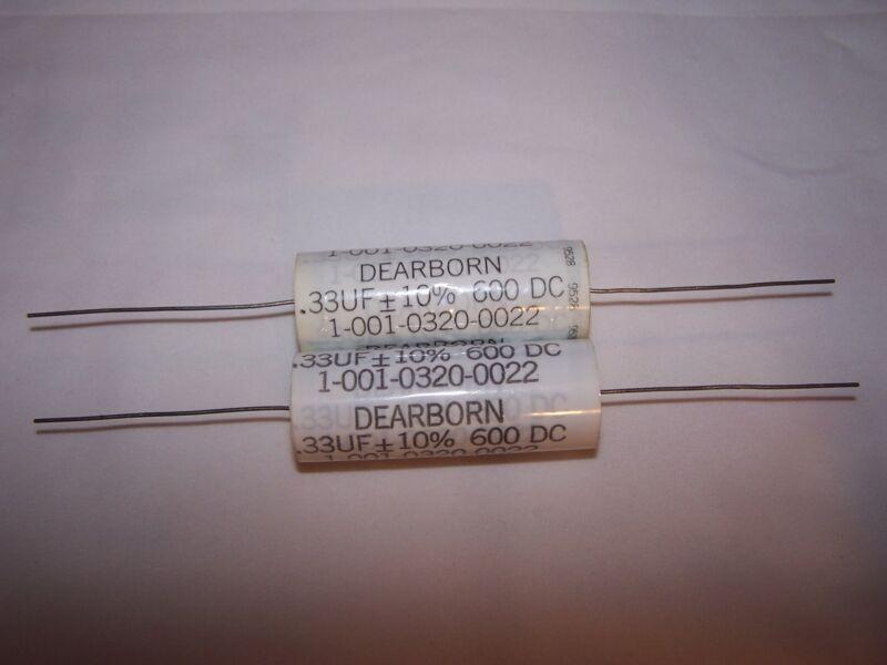 2pcs 0.33uf 600Vdc Dearborn (Dearborn Electronics, Inc. ) Capacitors