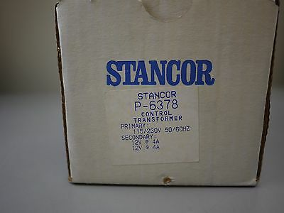 Stancor Control Transformer P-6378 Pri 115230v Single Phase Sec 12v 4a New