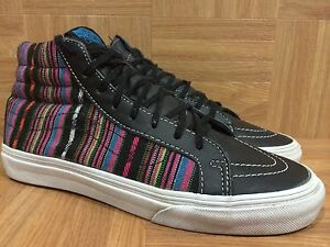 Vans Black Leather Fashion Sneakers RARE VANS Leather Inca
