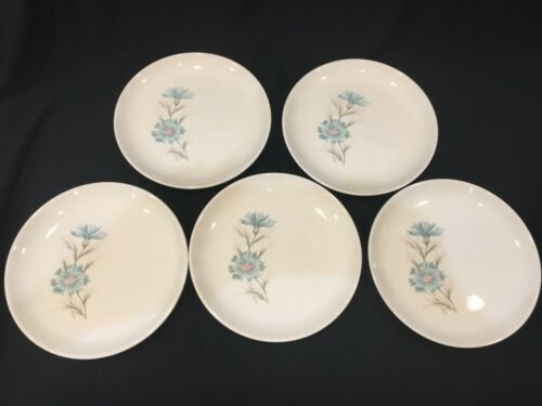5 VTG Taylor Smith & Taylor Ever Yours Boutonniere Bread Dessert Salad Plates