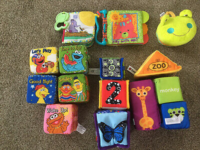Soft Book Blocks Baby Infant Toys Daycare Lot
