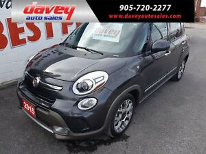 2015 Fiat 500L Trekking POWER SUNROOF, NAVIGATION, DUAL CLIMATE