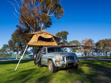 2002 Jeep Cherokee with rooftop tent, awning and camping gear Melbourne CBD Melbourne City Preview