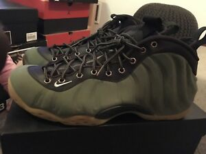 reputable site c548a bd765 Nike Foamposite Olive Green size 13