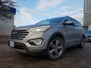 2016 Hyundai Santa Fe XL LTD with saddle Leather, Pano Sunroof,