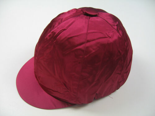 Helmet Cover Kappenüberzug Made of Satin with Elastic Wine Red L Made IN England