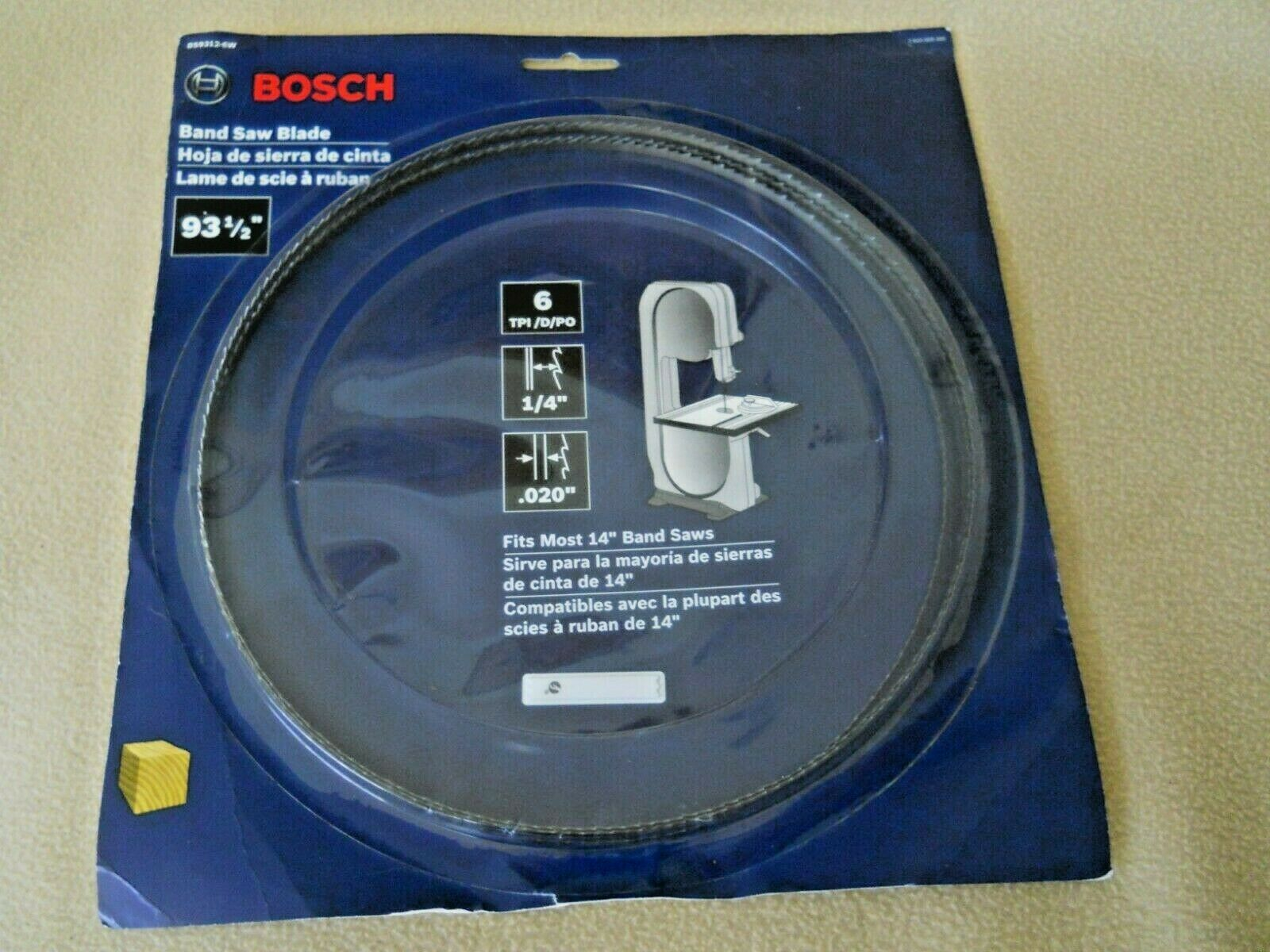 """Bosch 1/4"""" Band Saw Blade for 14"""" Band Saws / 19 1/2"""" / 6 T"""