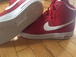 Limited Edition Red Air Force 1s hightop