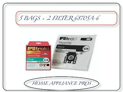 FILTRETE 3M MIELE,G&N ALLERGEN CANISTER PAPER BAGS # 68705A-6