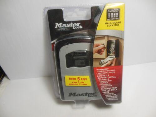 Master Lock 5401D Resettable Code Outside Wall Mount Lock Box Holds 5 Keys