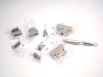 Lot of (2) HRS DB-15 + (1)JAE DB-C8-J10, & DB-CB-J13 Male Cable End Connectors