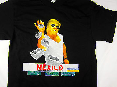 Donald Trump Mexico Wall Meme Funny President Usa Mens Tee Shirt Black