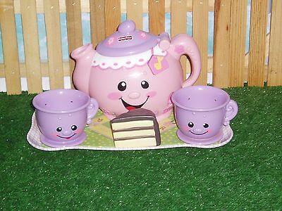 FISHER PRICE LAUGH AND LEARN TALKING TEA POT WITH CUPS