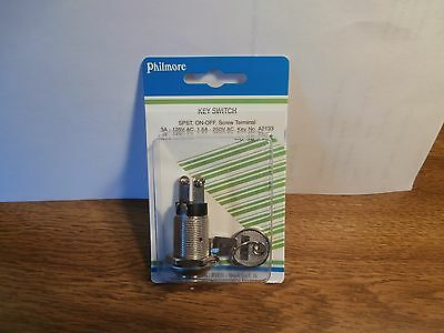 Philmore 30-1196 On-off Switch Key Lock Tumbler Spstnewnip