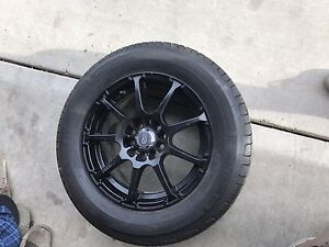 5x100/ 5x114.3 enkei wheels with summer and winter tires