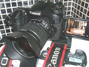 Canon EOS 60D 18.0 MP Digital SLR CAMERA THREE LENS Kit w/ EF-S IS II 18-55mm...