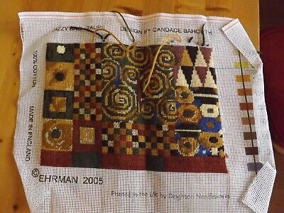 Rare Ehrmann Jazzy Bag Taupe Completed Tapestry by Candace Bahouth 2005