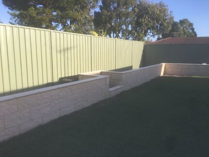 Retaining walls and bricklaying