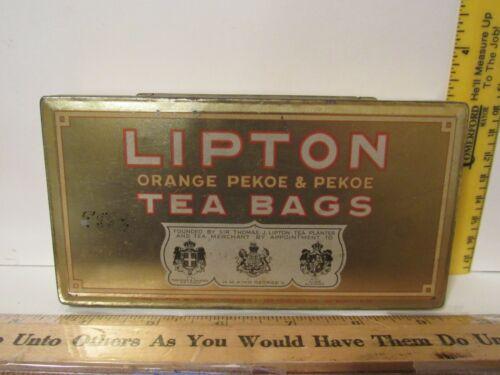 Vintage LIPTON ORANGE PEKOE TEA BAG TIN