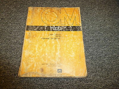 John Deere 450 Crawler Bulldozer Owner Operator Maintenance Manual Omt75122