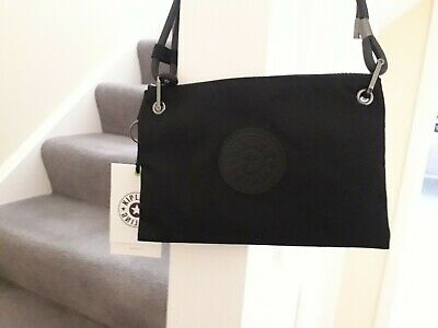KIPLING KNIPPA - SLIM CROSSBODY BAG WITH ADJUSTABLE SHOULDER STRAP -RICH BLACK