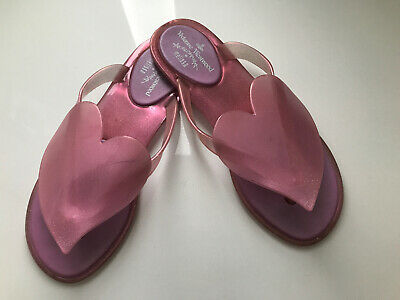 VIVIENNE WESTWOOD Anglomania Melissa Pink SPARKLE Heart Size