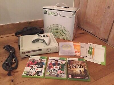BOXED Microsoft Xbox 360 Console 20GB Hard Drive Inc Controller & 3 Games Bundle