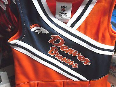 NFL 2017 NWT Licensed Denver Broncos GIRLS Cheerleader Uniform & Hair bow clip