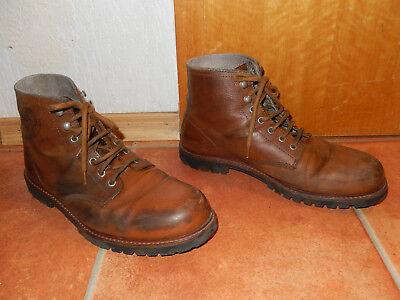 Knöchel Bootie Boot (DIESEL Knöchel Boots Bootie Schnür Stiefel Leder Antik Braun Gr. 44)
