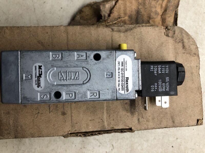 Rexroth Minimastrer Control  Valve GC-015100-02455 Bosch