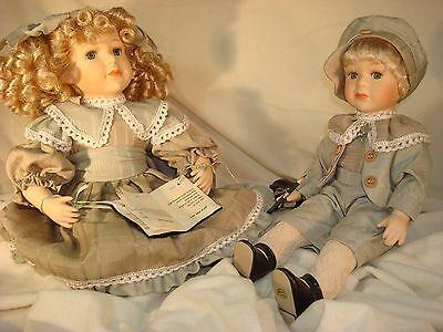 Jenny & Josh House of Lloyd  Celebrating Life Porcelain Victorian Doll set