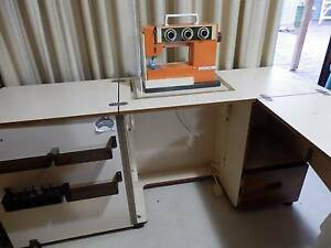 Horn Sewing cabinet and Husqvarna Sewing Machine Holt Belconnen Area Preview